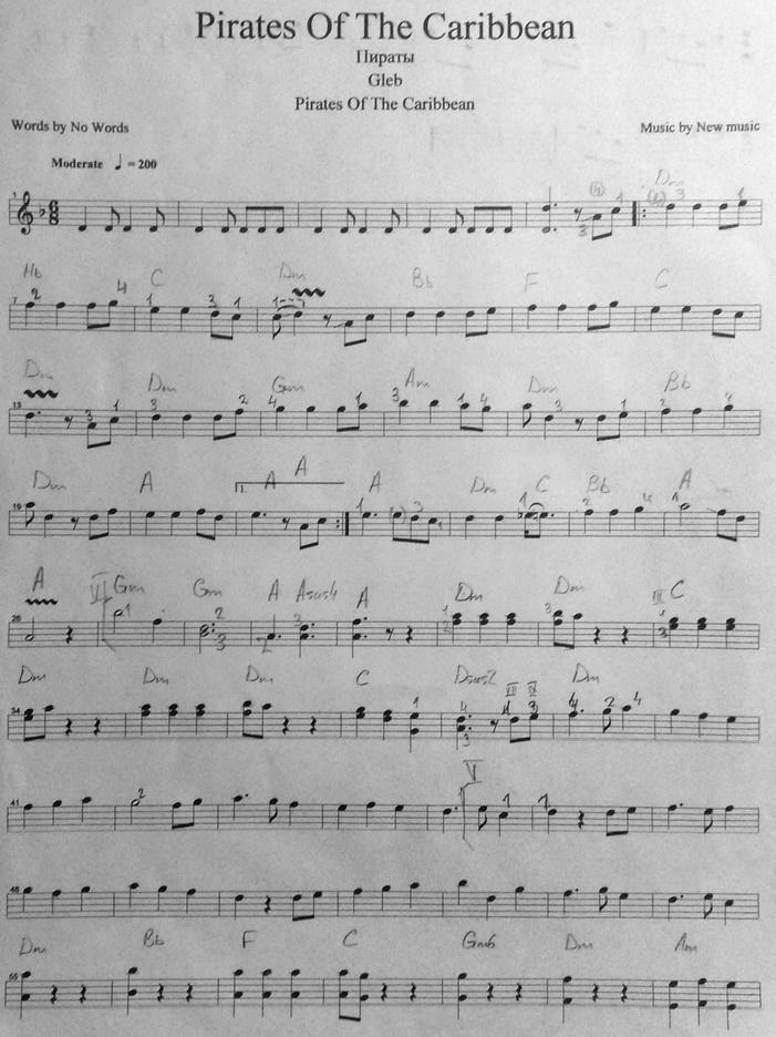 Вот собственно нот для знаменитой
